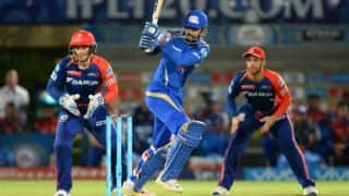 Krunal scores maiden fifty, Guptill out  for 48 in MI vs DD, IPL 2016 match