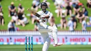 1st Test: New Zealand 59/1 at lunch on day two after Tim Southee's six