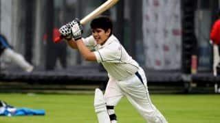 पहले इंटरनेशनल मैच में 'शून्य' पर आउट हुए अर्जुन तेंदुलकर