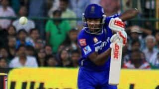 Sanju Samson, Karun Nair on attack for Rajasthan Royals against Mumbai Indians in IPL 2014
