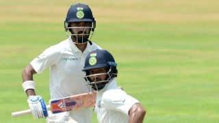 Shikhar Dhawan, KL Rahul deny Sri Lanka any breakthrough; India trail by 52 runs before tea on Day 4, 1st Test