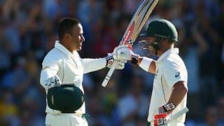एशेज 2017-18, सिडनी टेस्ट: डेविड वॉर्नर-उस्मान ख्वाजा के अर्धशतकों की मदद से ऑस्ट्रेलिया 193/2