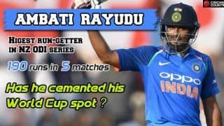 Has Ambati Rayudu cemented his World Cup spot?