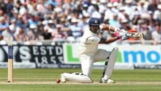 India vs England 2014 1st Test at Trent Bridge: Vijay, Pujara steady India; score 78/1