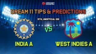 Dream11 Team India A vs West Indies A – Cricket Prediction Tips For Today's 5th Unofficial ODI IN-A vs WI-A at Coolidge Cricket Ground