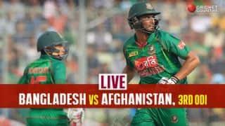 Live Cricket Score, BAN vs AFG, 3rd ODI