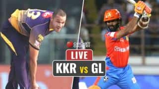 HIGHLIGHTS, Kolkata Knight Riders (KKR) vs Gujarat Lions (GL), IPL 10, Match 23: GL win by 4 wickets