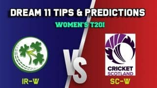 IR-W vs SC-W Dream11 Team Ireland Women vs Scotland Women, 11th Match, Women's Quadrangular series T20I – Cricket Prediction Tips For Today's Match IR-W vs SC-W at Deventer