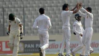 Sri Lanka close in on victory over Bangladesh in 1st Test