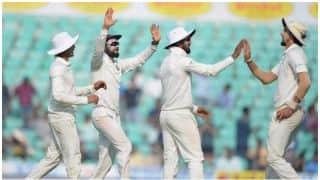 नागपुर टेस्ट- ईशांत शर्मा ने लपका कैच और भांगड़ा करने लगे विराट कोहली: वीडियो