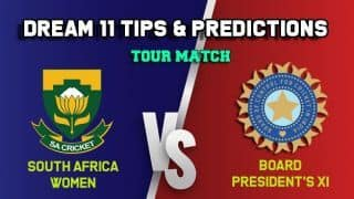 SA-W vs BPXI-W Dream11 Team South Africa Women vs Indian Board President's Women XI, Tour Match, South Africa Women tour of India – Cricket Prediction Tips For Today's Match SA-W vs BPXI-W at Surat