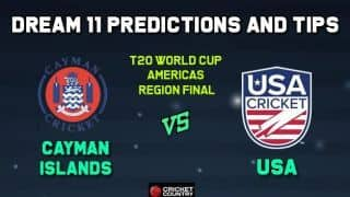 CAY vs USA Dream11 Team Cayman Islands vs USA, ICC MEN'S T20 WORLD CUP AMERICAS REGION FINAL – Cricket Prediction Tips For Today's Match CAY vs USA at Sandys Parish