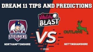 Dream11 Team Northamptonshire vs Nottinghamshire North Group VITALITY T20 BLAST ENGLISH T20 BLAST – Cricket Prediction Tips For Today's T20 Match NOR vs NOT at Nottingham