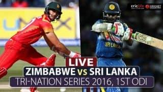 LIVE Cricket Score, Zimbabwe vs Sri Lanka, Tri-Nation Series 2016, 1st ODI at Harare: Sri Lanka won by 8 wickets