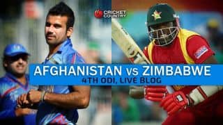 AFG 161 in 45 Overs | Live Cricket Score, Afghanistan vs Zimbabwe 2015-16, 4th ODI at Sharjah: ZIM win by 65 runs