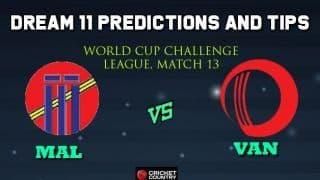 MAL vs VAN Dream11 Team Malaysia vs Vanautu, Match 13, World Cup Challenge League – Cricket Prediction Tips For Today's Match MAL vs VAN at Kuala Lumpur