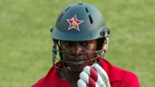 Chamu Chibhabha denied maiden ODI ton