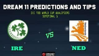 Dream11 Team Ireland vs Netherlands ICC Men's T20 World Cup Qualifiers – Cricket Prediction Tips For Today's T20 Semifinal 1 IRE vs NED at Dubai