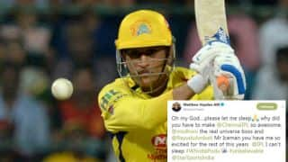 "MS Dhoni ""the real universe boss"" powers CSK to top of IPL points table: Twitter reactions from cricket fraternity"