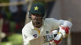 Mohammad Hafeez's unbeaten century helps Pakistan earn lead against Bangladesh at lunch on Day 3 of 1st Test at Khulna