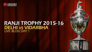 Vidarbha 222/6 I Live Cricket Score, Delhi vs Vidarbha, Ranji Trophy 2015-16, Group B match, Day 1 at Kotla: End of day's play