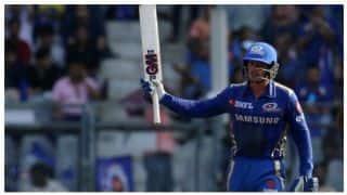 डी कॉक, रोहित और हार्दिक ने मुंबई को 187 रन तक पहुंचाया