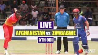 Live Cricket Score, AFG vs ZIM, 5th ODI at Harare: ZIM lose