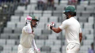 Bangladesh lose 5 wickets before tea; extend lead to 248 runs