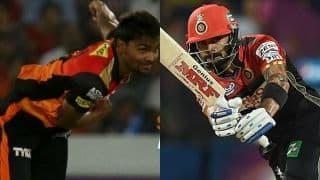 सनराइजर्स हैदराबाद के खिलाफ जीत के लिए विराट कोहली को पार करनी होगी संदीप शर्मा की चुनौती