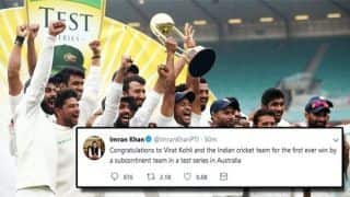 Pakistan Prime Minister Imran Khan congratulates Virat Kohli and team on series win