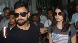 Virat Kohli and Anushka Sharma spotted together as they head towards Goa for Yuvraj singh's wedding