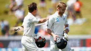 NZ 32/0 at stumps| ZIM post 164, NZ vs ZIM 2016 Live Cricket Score, 1st Test at Bulawayo, Day 1