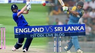 ENG 286/8 in 50 overs   Live Cricket Score, England vs Sri Lanka 2016, 1st ODI at Nottingham: Match tied