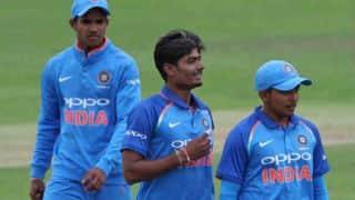 अंडर 19 विश्व कप: अनुकूल रॉय की शानदार गेंदबाजी की मदद से भारत ने लगातार दूसरी जीत हासिल की