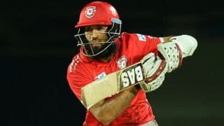 IPL 2017: Hashim Amla's unbeaten hundred propels Kings XI Punjab (KXIP) to 198 for 4 against Mumbai Indians (MI) in IPL 10, Match 22