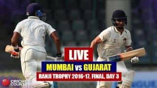 रणजी ट्रॉफी फाइनल मैच के तीसरे दिन का खेल खत्म