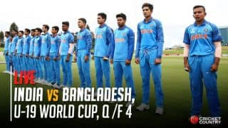 Live Cricket Score, India vs Bangladesh, ICC Under-19 World Cup 2018, Quarter Finals 4: India beat Bangladesh by 131 runs