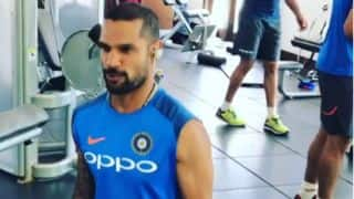 IND v WI: Dhawan posts video of Indian team's gym session