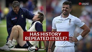 Ashes 2015: James Anderson's side strain reminiscent of Glenn McGrath's twisted ankle in Ashes 2005
