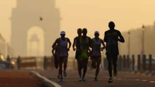 Australian marathon runner Pat Farmer sets off on Spirit of India run