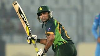 Mohammad Hafeez scores half-century against Bangladesh in Asia Cup 2014