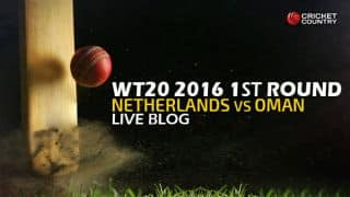 Live Cricket Score, Oman vs Netherlands, ICC World T20 2016, Group A Round 1, OMAN vs NED, 7th Match at Dharamsala: Match abandoned