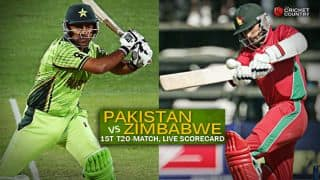 Live Cricket Scorecard: Pakistan vs Zimbabwe, 1st T20I at Lahore
