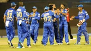 Rajasthan Royals vs Mumbai Indians Live Scorecard IPL 2014: Match 44 at Ahmedabad