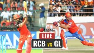 Live IPL 2017 Score, RCB vs GL IPL 10, Match 31: Tye removes Gayle, Head in 1 over