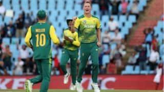 दक्षिण अफ्रीकी गेंदबाजों ने श्रीलंका टीम को 203 रन पर समेटा
