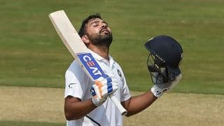 Rohit smashes century on debut as opener before rain washes out final session