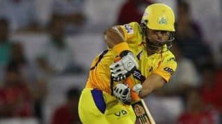 Muttiah Muralitharan dismisses David Hussey in Chennai Super Kings vs Royal Challengers Bangalore, IPL 2014
