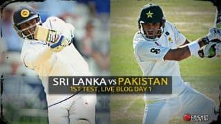 Live Cricket Score Sri Lanka vs Pakistan 2015, 1st Test at Galle, Day 1: Play abandoned due to rain