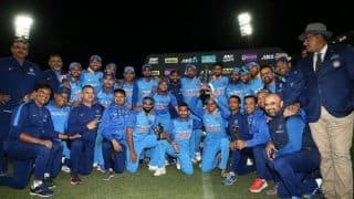 Watch: India celebrate historic ODI series win in New Zealand with chants of 'How's the Josh'